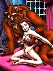 Beauty and Monster hardcore sex - 10 cartoon pictures