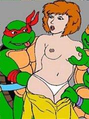 Ninja Turtles fucking hard April - 10 cartoon pictures
