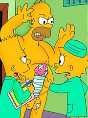 Simpsons family sex in hospital - 10 cartoon pictures