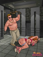 Hottest prisoners of Bruce Bond's basement - 5 bdsm art pictures