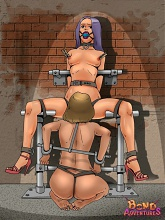 Merciless master and his sexy human toys - 5 bdsm art pictures