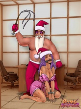 Christmas in bondage - 5 bdsm art pictures