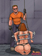 Bondmaids get a painful lesson - 6 bdsm art pictures