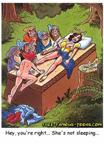 Snowwhite and lusty dwarfs dirty sex with wild double and triple penetrations. Dwarfs perverted shy Snow White and began to fuck her to all holes with...