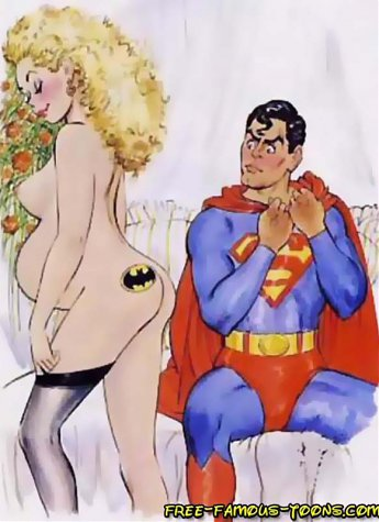 Superman and his lusty girlfriend Supergirl try new sex poses