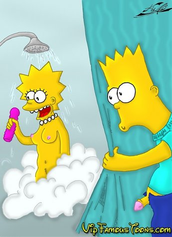 Shy girl Lisa Simpson seduced and fucked hard by Bart and Homer Simpsons