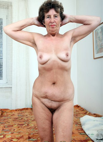 Lusty grandmom undressed and masturbated her pussy
