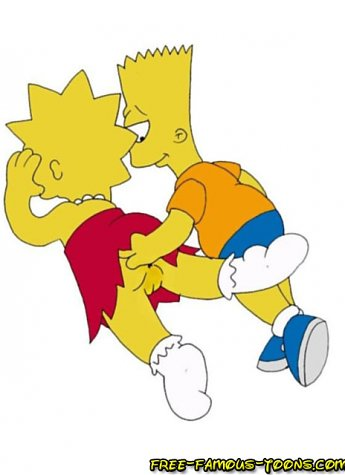 Bart Simpson in hard fucking scenes with Lisa and Marge