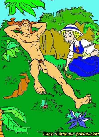 Tarzan and his lusty girlfriend Jane in hardcore orgies in joungle