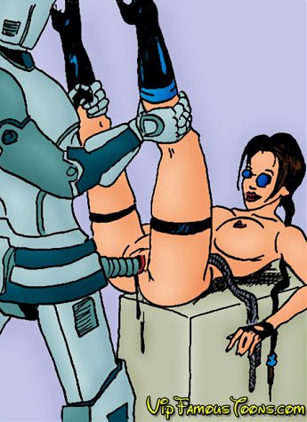Tomb raider Lara Croft rescuing her boyfriend and fucking with lusty Robot until cumming...