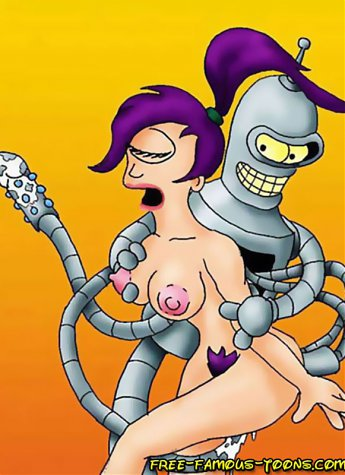 Lusty Leela seduced shy Fry and fucked hard by robot Bender