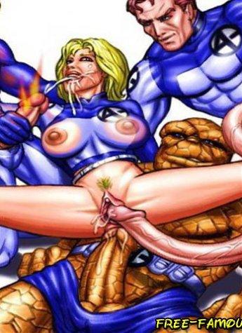 Famous film stars X-Men showing their wonderful skills in art of hardcore fucking