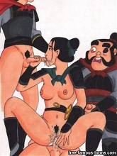 Mulan fucked hard by Hun - 10 cartoon pictures