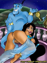 Aladdin and Jasmine orgies - 10 cartoon pictures