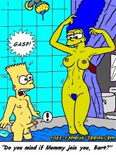Simpsons family hidden orgy - 5 cartoon pictures