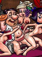 Flintstones throw orgies - 5 cartoon pictures