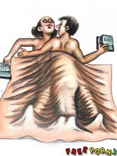 Funny explicit caricatures - 5 cartoon pictures
