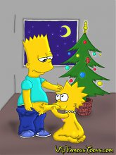 Simpsons family Xmas orgy - 5 cartoon pictures