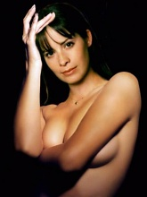 Beautiful Holly Marie Combs exposing her naked tits and sweet pussy - 10 cartoon pictures